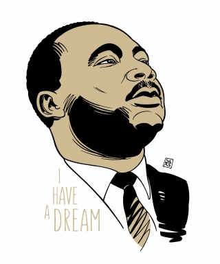 I Have a Dream - Martin Luther King jr. portrait