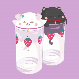 Nani Hachi cute kitties in cups