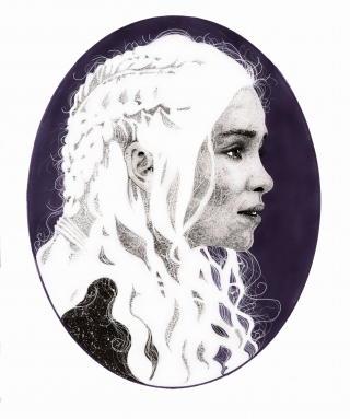 Daenerys Targaryen the dragon queen portrait.
