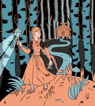 Vasilisa is running away from the den of supreme witch.jpg