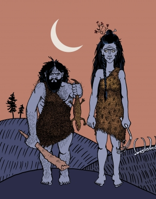 The first date of a caveman and a cavewoman.jpg