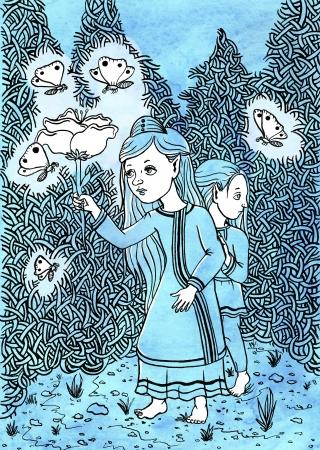 Elfish siblings exploring the enchanted forest.jpg
