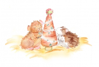 Hamsters around the Christmas tree .jpg