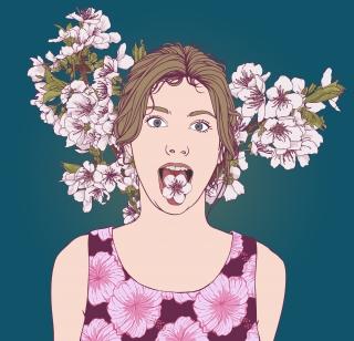 Cherry Girl  artwork feroniaeillustration