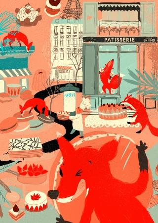 Foxy Macaron Eaters_TCIPM_iPadMini