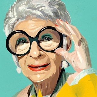 Iris Apfel a fashion guru