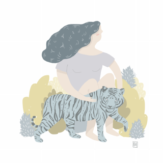 Girl with a tiger.png