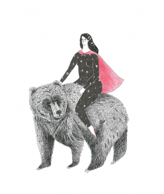 Girl on a bear .jpg