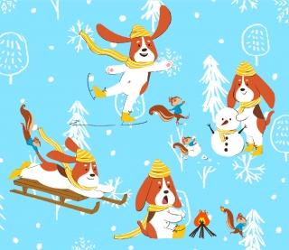 animal's winter fun_art