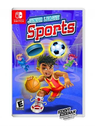 Junior League Sports african american boy basketball player video game box packaging illustration.jpg