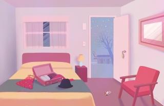 Motel room unpacking.jpg