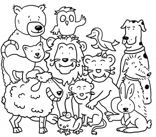 Family of Animals with Lion as the king