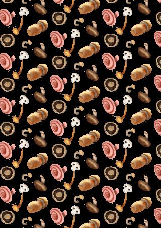 mushroom pattern 2
