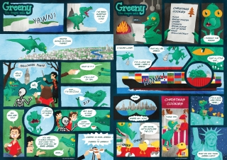 Greeny comics 1-2 (Hello Kids)