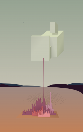 Abstract Building in Dessert looking made in Salvator Dali style.png