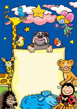 Animals: Dog, Giraffe, Hedgehog and Little Lion for Children.jpg