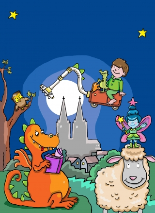 Children Book Dragons and Sheep