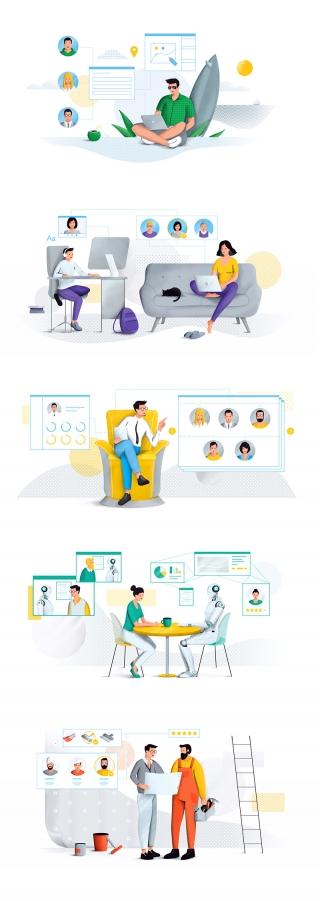 Business illustration for website