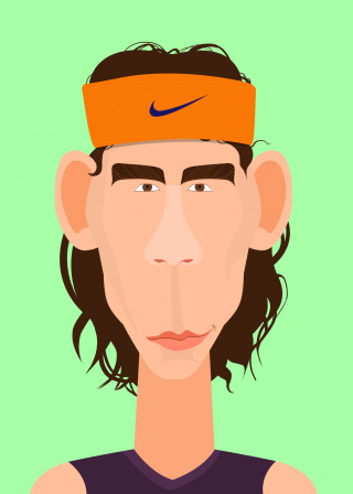 Rafael Nadal, the portrait of tennis player .png