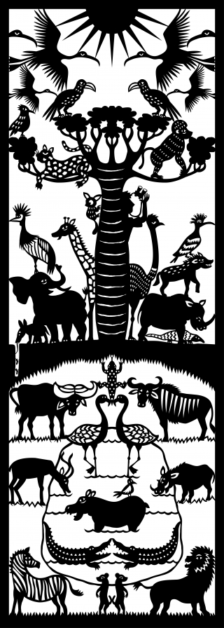 savannah 70x25 cm black