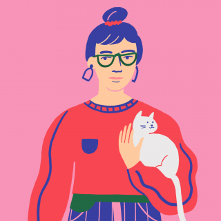 Girl with cat .png