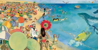 """Aqui, Ali e Acola"" children's book: People in the Beach.jpg"