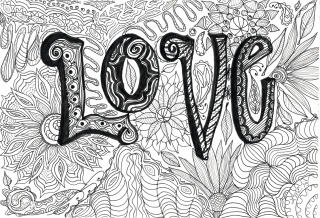 Love written in black and white pattern..jpg