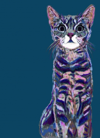 Digital painting of a striped cat..jpg