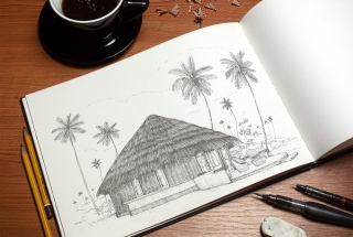 Jetwing Surf, Architecture Illustration