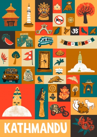 Poster of Kathmandu landmarks.jpg