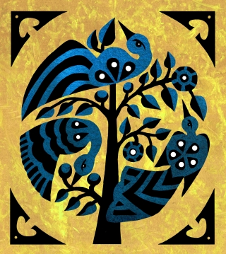 Birds in a tree, style inspired by Indonesian traditional art.jpg