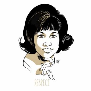 Respect  - Aretha Franklin portrait
