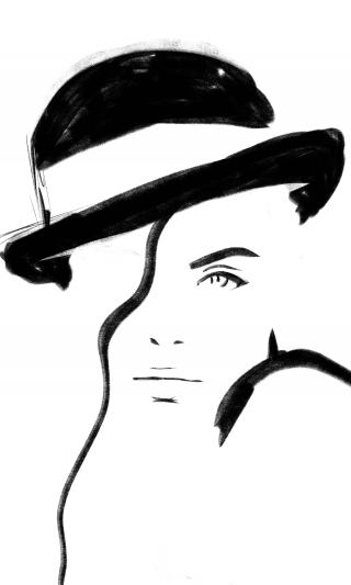 Girl in an Hat
