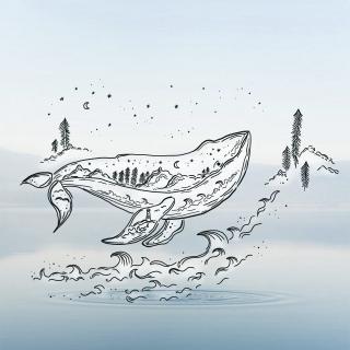 blue whale mockup