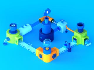 3D - Isometric - Salesforce - Machine 4