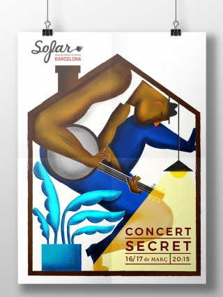 This is a series of two posters commissioned by Sofar Sounds..jpg
