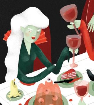 Vampire women eating a blood cake.jpg