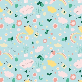 Tiny Seeds Vector Pattern