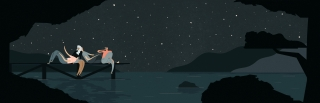 Four friends watching the sky on a starry summer night. (Breathe magazine editorial collaboration).jpg
