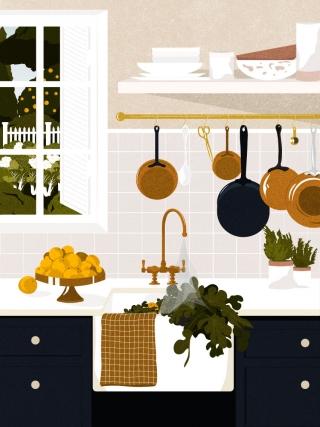 Kitchen scenery on a summer morning..jpg