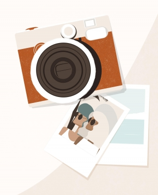 MEMORIES. Two polaroid photographs of two friends spending their summer holiday together. .jpg