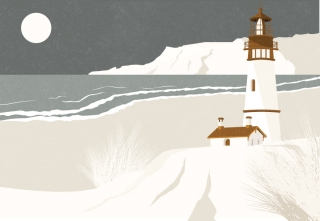 A state of solitude. Lighthouse scenery. (Breathe UK magazine editorial collaboration)