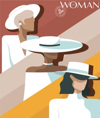 The Woman. Three characters (women wearing white outfits and white hats) created for @thewoman.ro community and the 9th edition of The Woman Leadership Conference..jpg