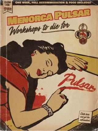la-flor-en-el-culo-carles-gomila-pulp-illustration-menorca-pulsar-sean-sheetham-workshops-to-die-for