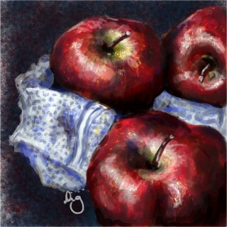 Apples Still Life - a study painted in Photoshop.jpg