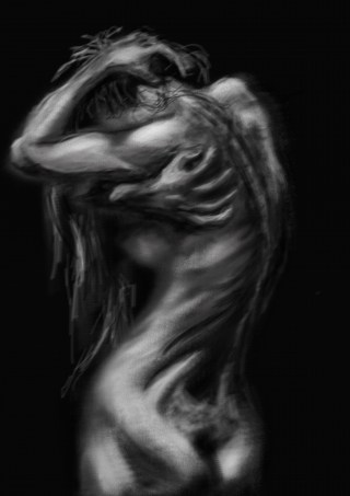 Tormented - A nude study painted in Photoshop.jpg