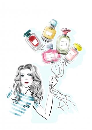 Woman and Perfume Balloons.jpg