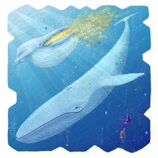 Blue Whale underwater - endangered species series