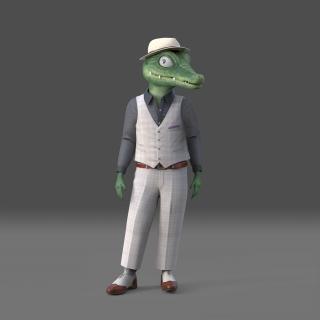 Stylish Crocodile
