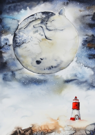 Moon & Lighthouse